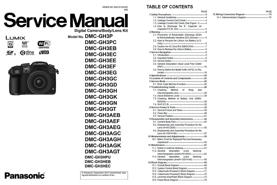 panasonic lumix service manuals rh apotelyt com Panasonic TV Manual Panasonic.comsupportbycncompass