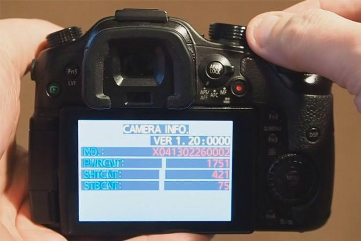 Panasonic shutter count