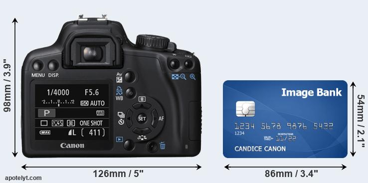1000D and credit card rear side