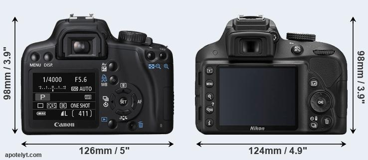 1000D and D3300 rear side