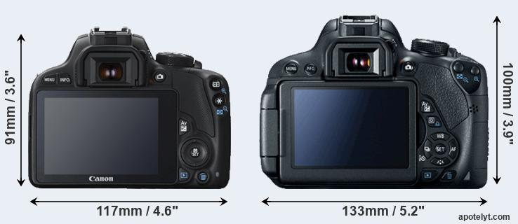 100D and 700D rear side