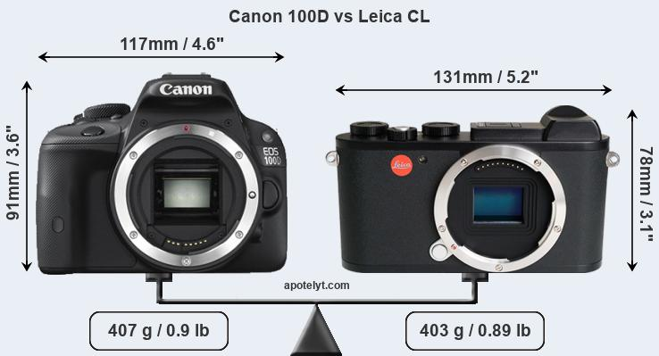 Compare Canon 100D and Leica CL