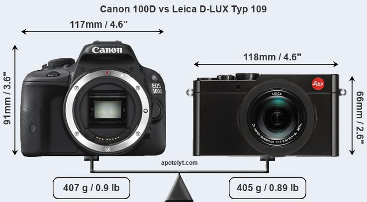 Compare Canon 100D and Leica D-LUX Typ 109