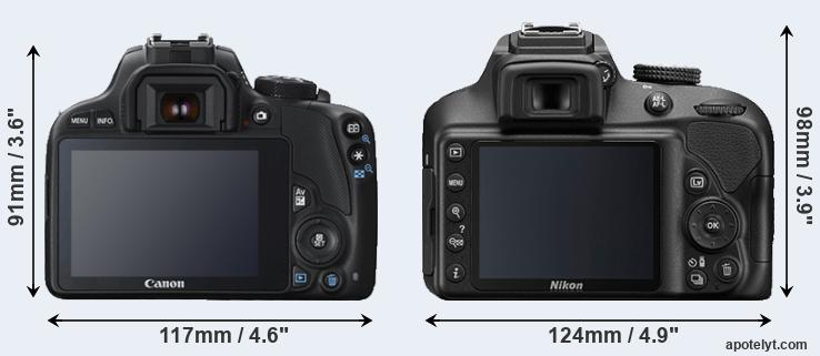 100D and D3400 rear side