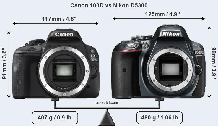 Compare Canon 100D and Nikon D5300
