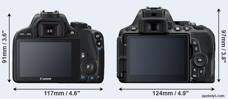 100D and D5500 rear side