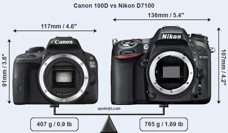 Compare Canon 100D and Nikon D7100