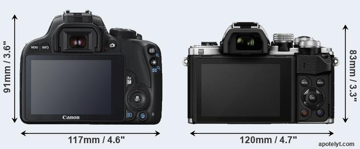 100D and E-M10 II rear side
