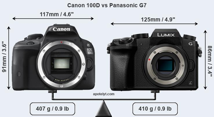 Compare Canon 100D and Panasonic G7