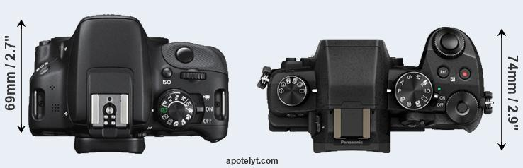 100D versus G80 top view