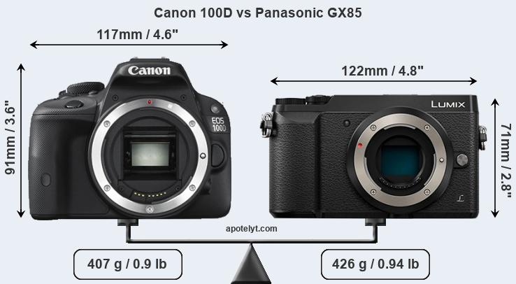 Compare Canon 100D vs Panasonic GX85