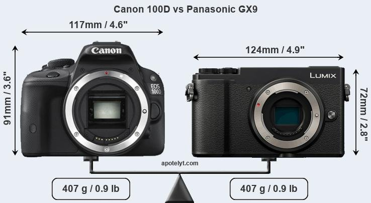 Compare Canon 100D and Panasonic GX9
