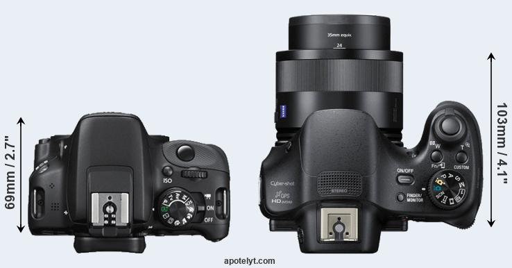 canon 100d vs sony hx400v comparison review. Black Bedroom Furniture Sets. Home Design Ideas