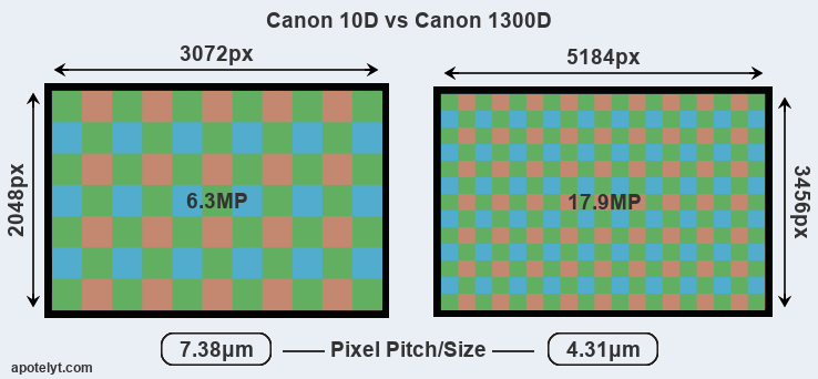 Canon 10D vs Canon 1300D Comparison Review