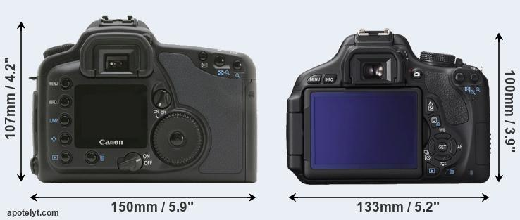 10D and 600D rear side