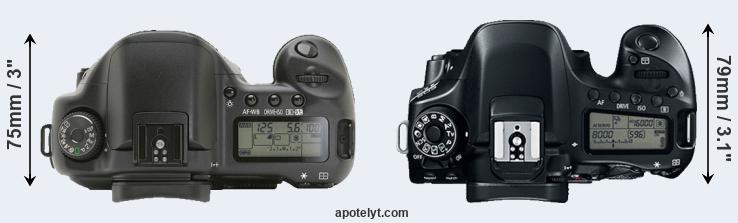 10D versus 80D top view