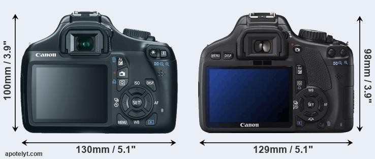 Canon 1100D vs Canon 550D Comparison Review