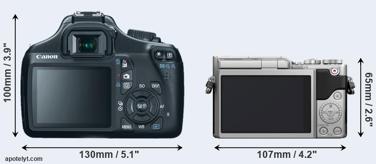 1100D and GX800 rear side