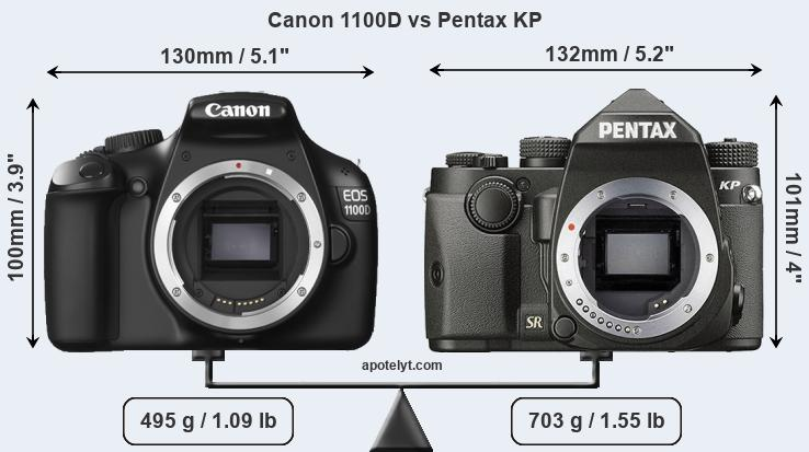 Compare Canon 1100D and Pentax KP
