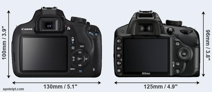 1200D and D3200 rear side