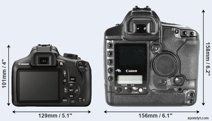 Canon 1300D vs Canon 1D Mark II Comparison Review