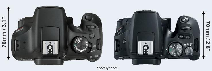 1300D versus 200D top view