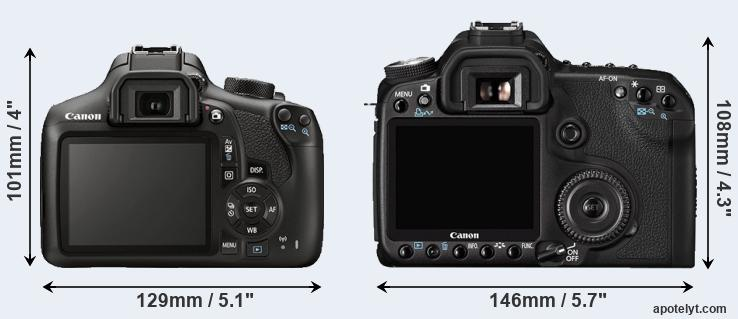 1300D and 50D rear side