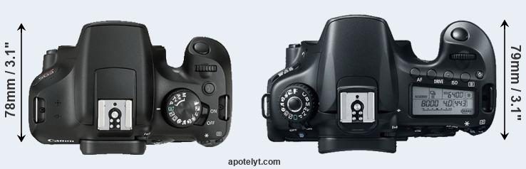 1300D versus 60D top view
