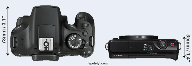 1300D versus M10 top view