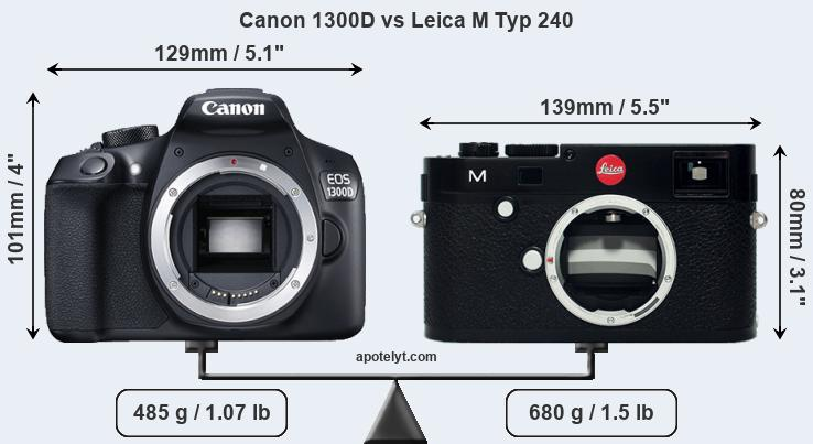 Compare Canon 1300D and Leica M Typ 240