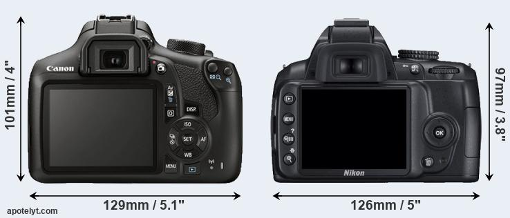 1300D and D3000 rear side