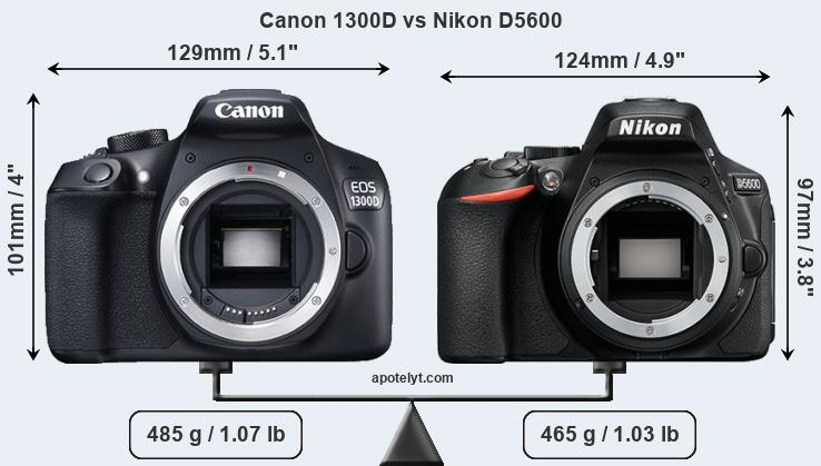Compare Canon 1300D and Nikon D5600