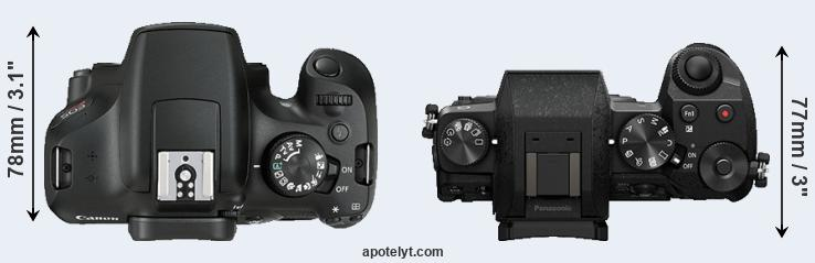 1300D versus G7 top view