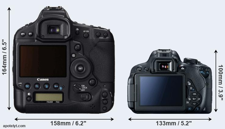 1DC and 700D rear side