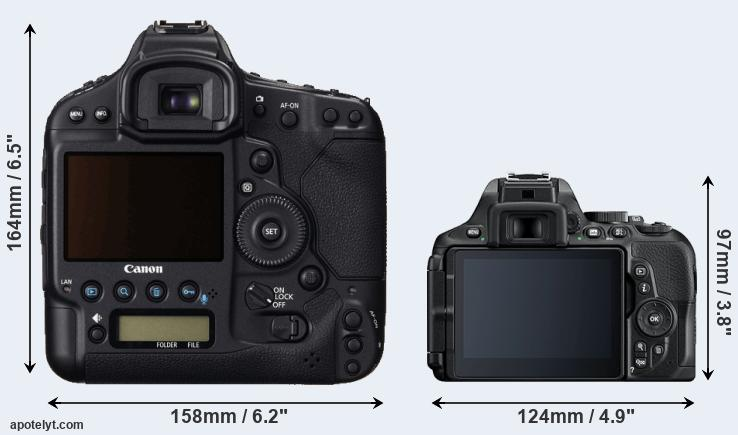 1DC and D5600 rear side