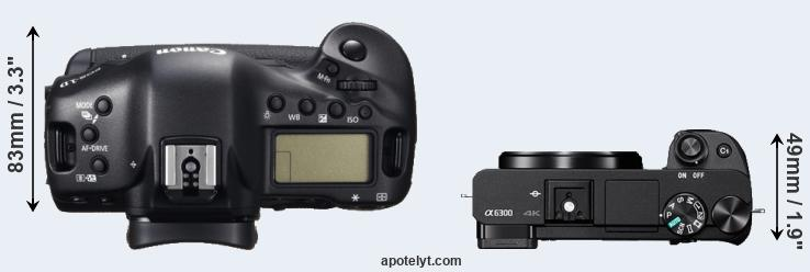 1DC versus A6300 top view