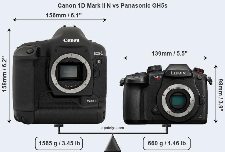 Compare Canon 1D Mark II N and Panasonic GH5s