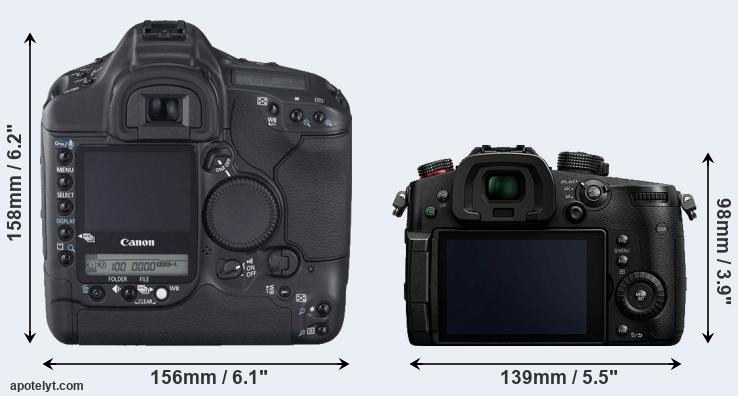 1D Mark II N and GH5s rear side