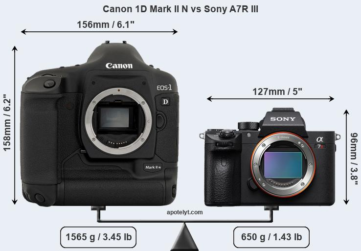Compare Canon 1D Mark II N vs Sony A7R III