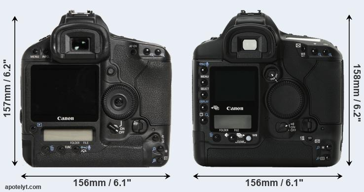 1D Mark III and 1Ds Mark II rear side