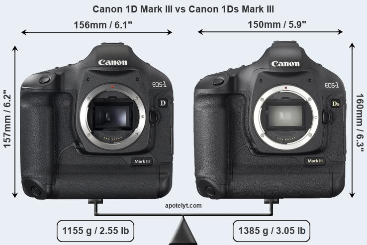 Compare Canon 1D Mark III vs Canon 1Ds Mark III