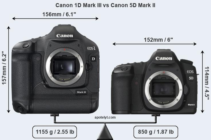 Canon 1D Mark III vs Canon 5D Mark II front