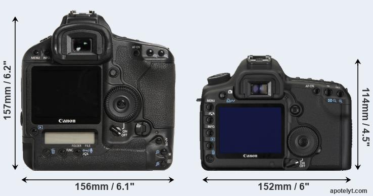 1D Mark III and 5D Mark II rear side