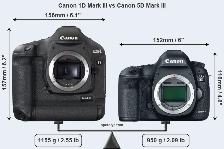 Compare Canon 1D Mark III and Canon 5D Mark III