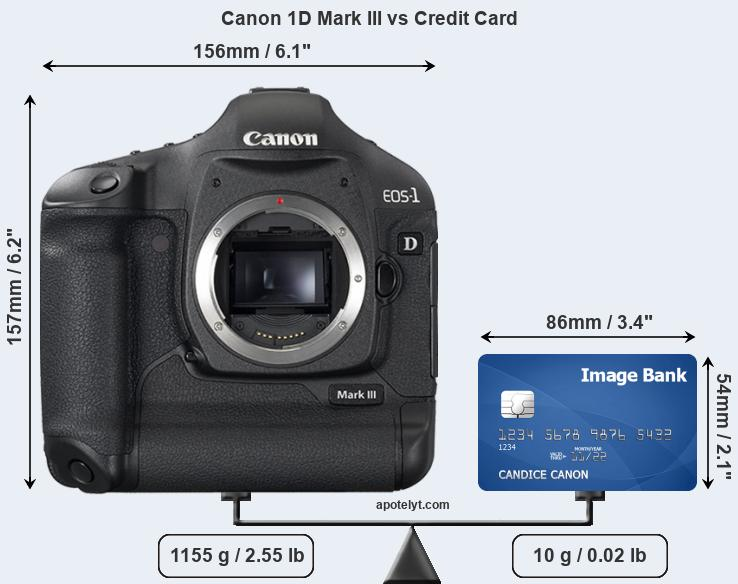 Canon 1D Mark III vs credit card front