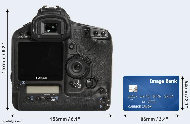 1D Mark III and credit card rear side