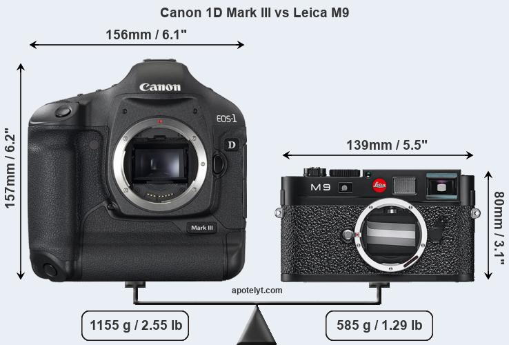 Compare Canon 1D Mark III and Leica M9