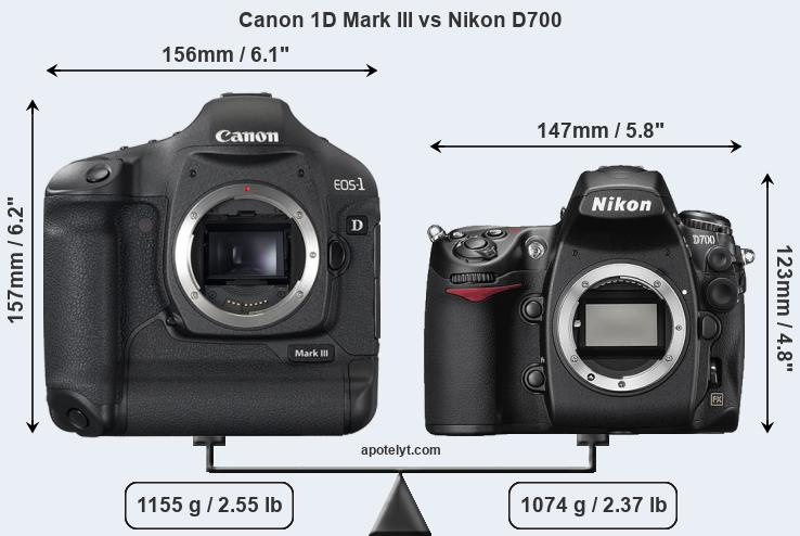 Compare Canon 1D Mark III and Nikon D700