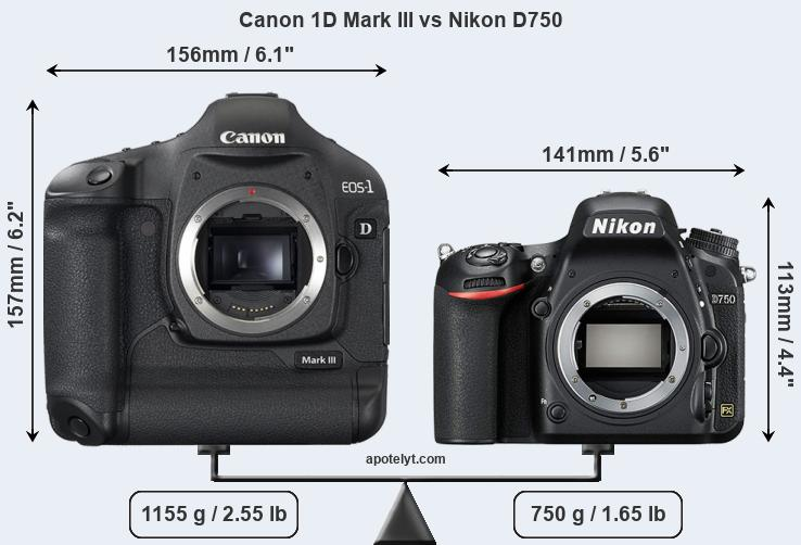 Compare Canon 1D Mark III vs Nikon D750