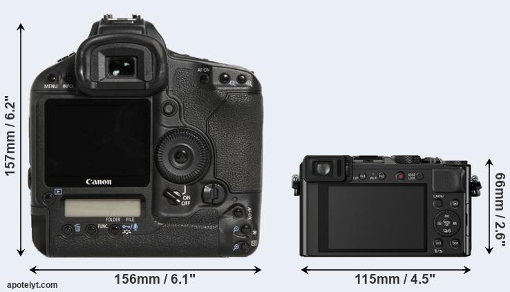 1D Mark III and LX100 rear side